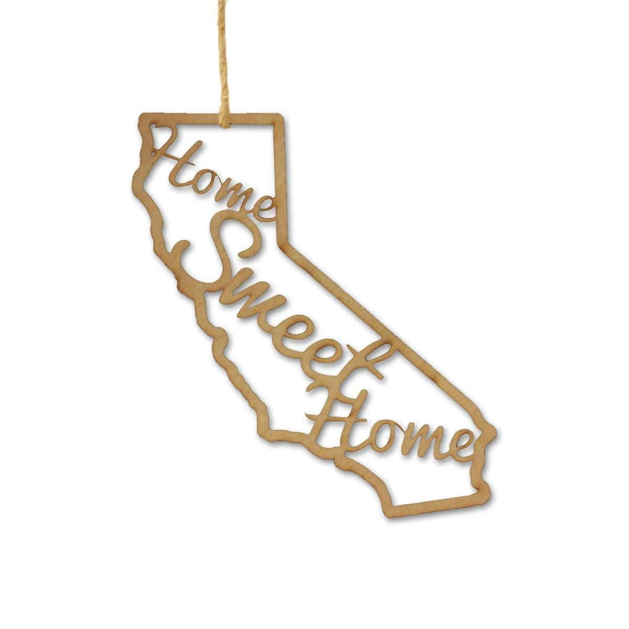 Torched Products Ornaments California Home Sweet Home Ornaments