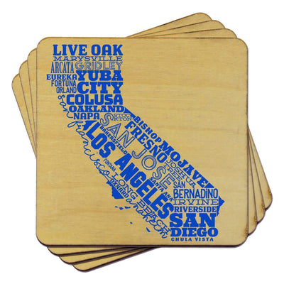Torched Products Coasters California State Typography Coaster