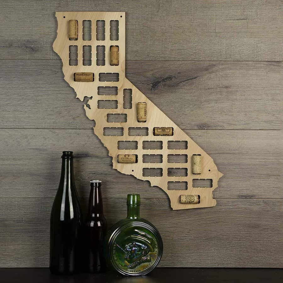 Torched Products Wine Cork Map California Wine Cork Map