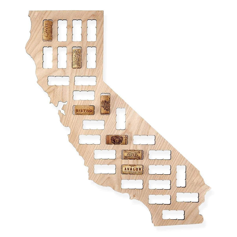 California Wine Cork Map Torched Products