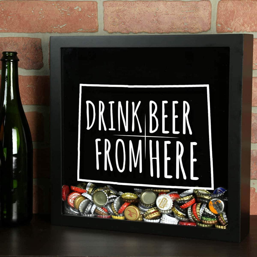 Torched Products Shadow Box Black Colorado Drink Beer From Here Beer Cap Shadow Box