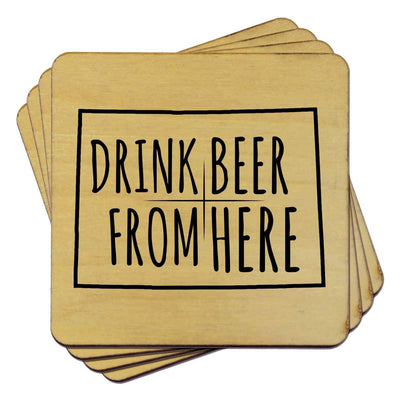 Torched Products Coasters Colorado Drink Beer From Here Coasters