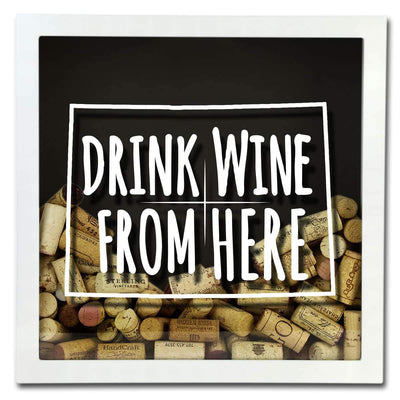 Torched Products Shadow Box Colorado Drink Wine From Here Wine Cork Shadow Box (795717173365)