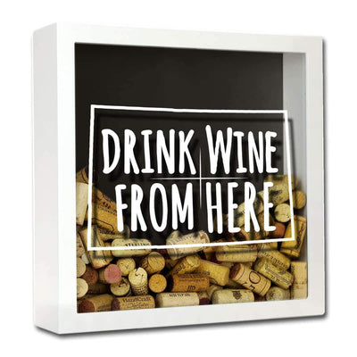 Torched Products Shadow Box White Colorado Drink Wine From Here Wine Cork Shadow Box (795717173365)