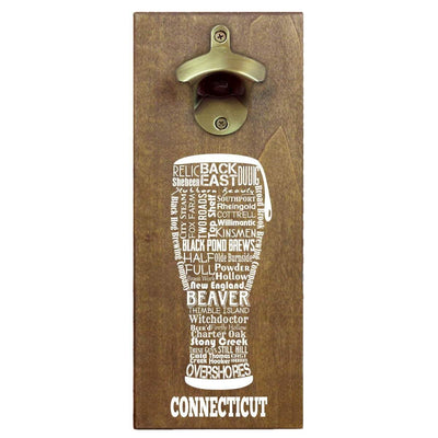 Torched Products Bottle Opener Default Title Connecticut Craft Beer Typography Cap Catching Magnetic Bottle Opener (789157970037)