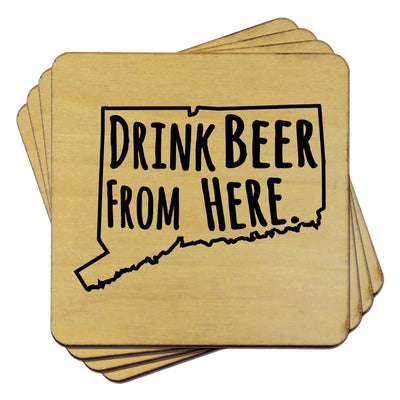 Torched Products Coasters Connecticut Drink Beer From Here Coasters (781444120693)
