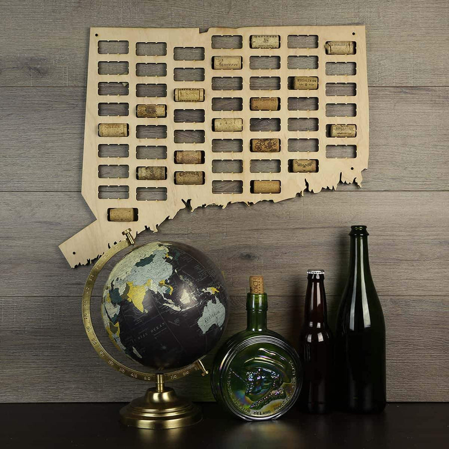Torched Products Wine Cork Map Connecticut Wine Cork Map
