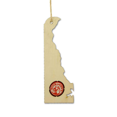 Torched Products Ornaments Delaware Beer Cap Map Ornaments