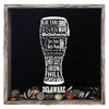 Torched Products Shadow Box Gray Delaware Beer Typography Shadow Box (779427807349)