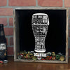 Torched Products Shadow Box Delaware Beer Typography Shadow Box (779427807349)