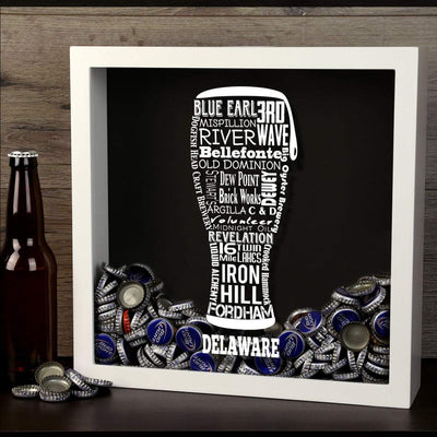 Torched Products Shadow Box Delaware Beer Typography Shadow Box