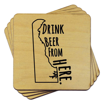 Torched Products Coasters Delaware Drink Beer From Here Coasters (781444448373)