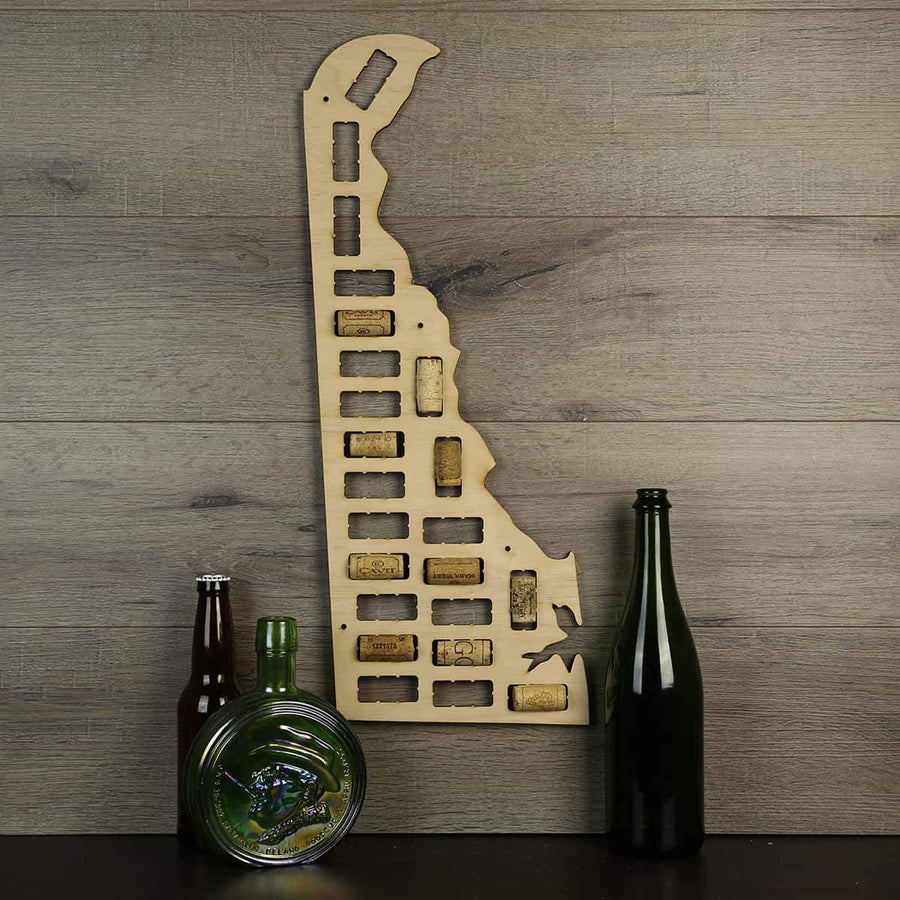 Torched Products Wine Cork Map Delaware Wine Cork Map (778961715317)