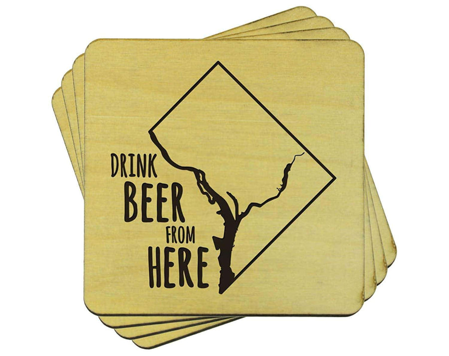 Torched Products Coasters District of Colombia Drink Beer From Here Coasters