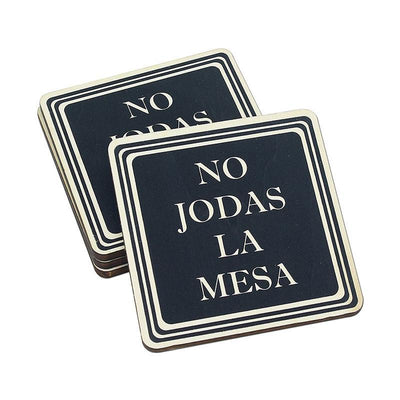 Torched Products Coasters Don't Fuck Up The Table Wood Coasters – Funny Gift Coasters – Set of 4 - Spanish