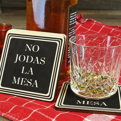 Torched Products Coasters Don't Fuck Up The Table Wood Coasters – Funny Gift Coasters – Set of 4 - Spanish (791015030901)