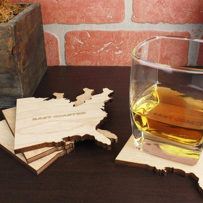 Torched Products Coasters East and West Coast Wood Coaster (791067230325)