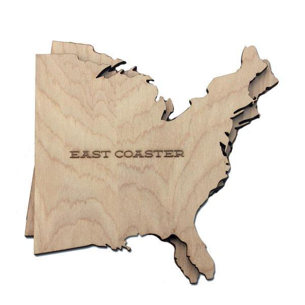 Torched Products Coasters East and West Coast Wood Coaster