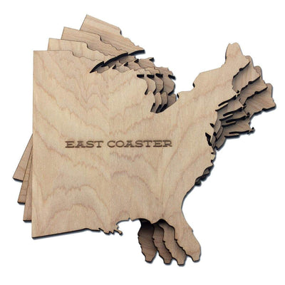 Torched Products Coasters East Coaster Wood Coaster (778318545013)