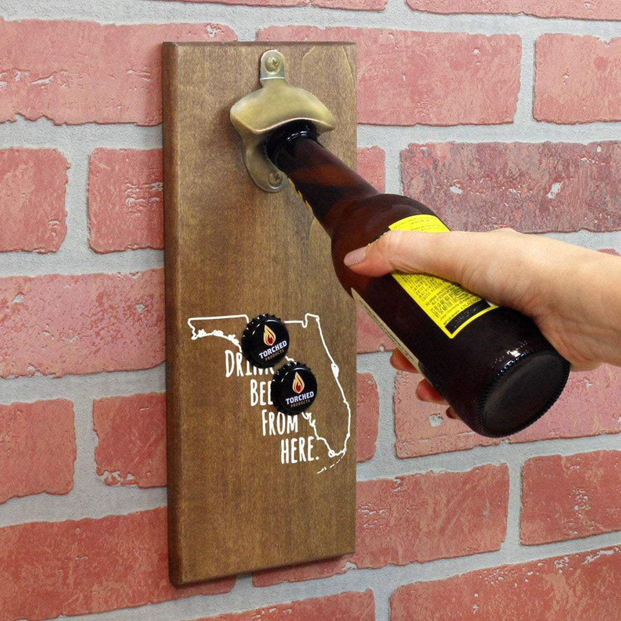 Torched Products Bottle Opener Default Title Florida Drink Beer From Here Cap Catching Magnetic Bottle Openers (781483802741)