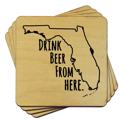 Torched Products Coasters Florida Drink Beer From Here Coasters