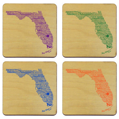 Torched Products Coasters Florida State Typography Coaster (787811008629)