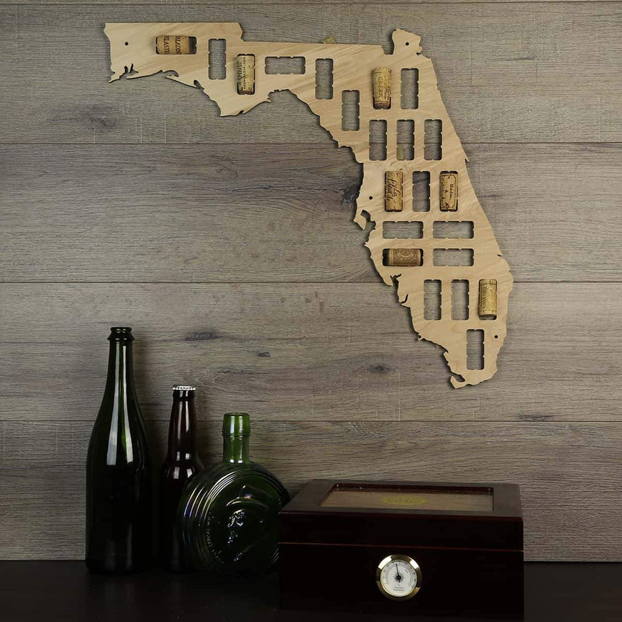 Torched Products Wine Cork Map Florida Wine Cork Map
