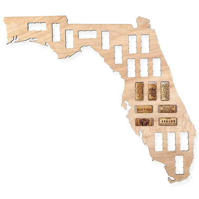Torched Products Wine Cork Map Florida Wine Cork Map (778962567285)