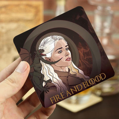 Torched Products Coasters Game of Thrones Themed Wood Drink Coasters (778313072757)