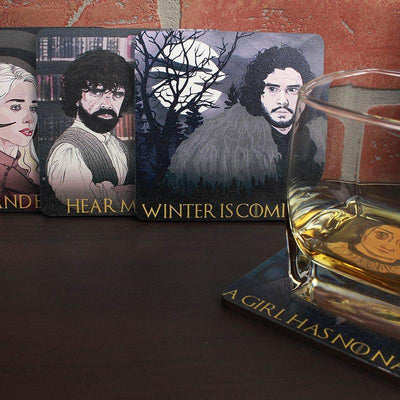 Torched Products Coasters Game of Thrones Themed Wood Drink Coasters