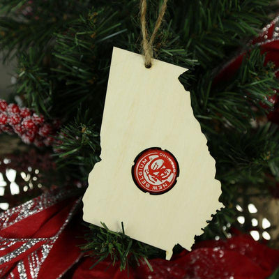 Torched Products Beer Cap Maps Georgia Beer Cap Map Ornaments (781537738869)