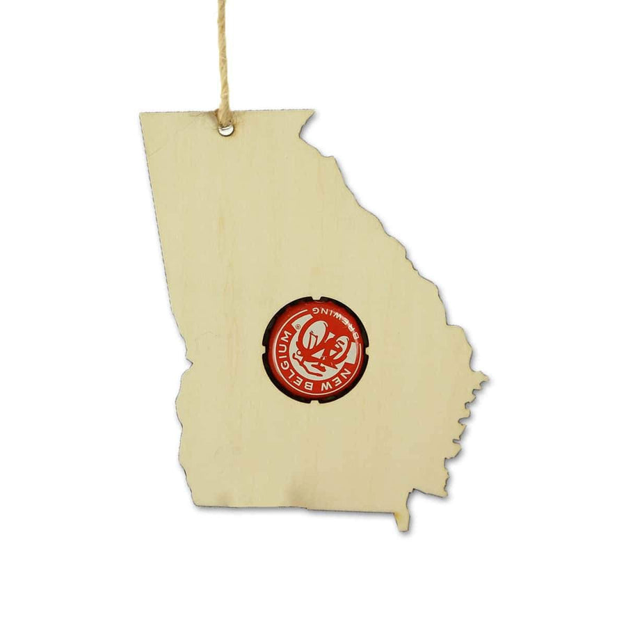 Torched Products Beer Cap Maps Georgia Beer Cap Map Ornaments