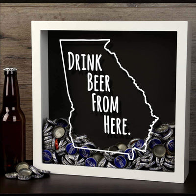 Torched Products Shadow Box Georgia Drink Beer From Here Beer Cap Shadow Box
