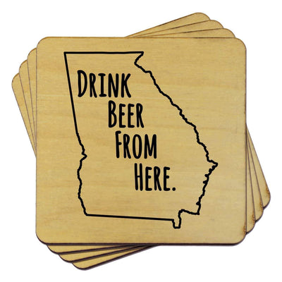 Torched Products Coasters Georgia Drink Beer From Here Coasters