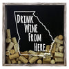 Torched Products Shadow Box Gray Georgia Drink Wine From Here Wine Cork Shadow Box (795724611701)