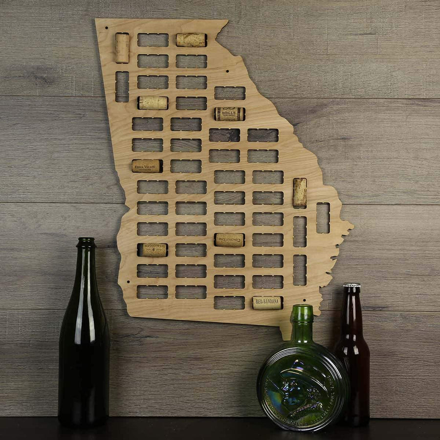 Torched Products Wine Cork Map Georgia Wine Cork Map (1413634293877)