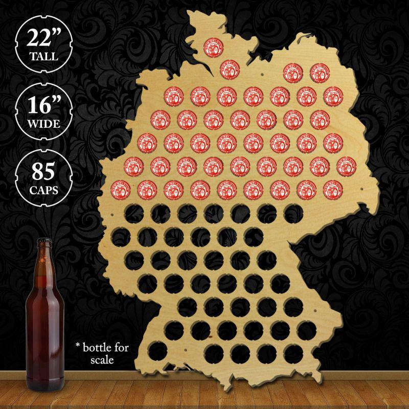 Torched Products Beer Bottle Cap Holder Germany Beer Cap Map