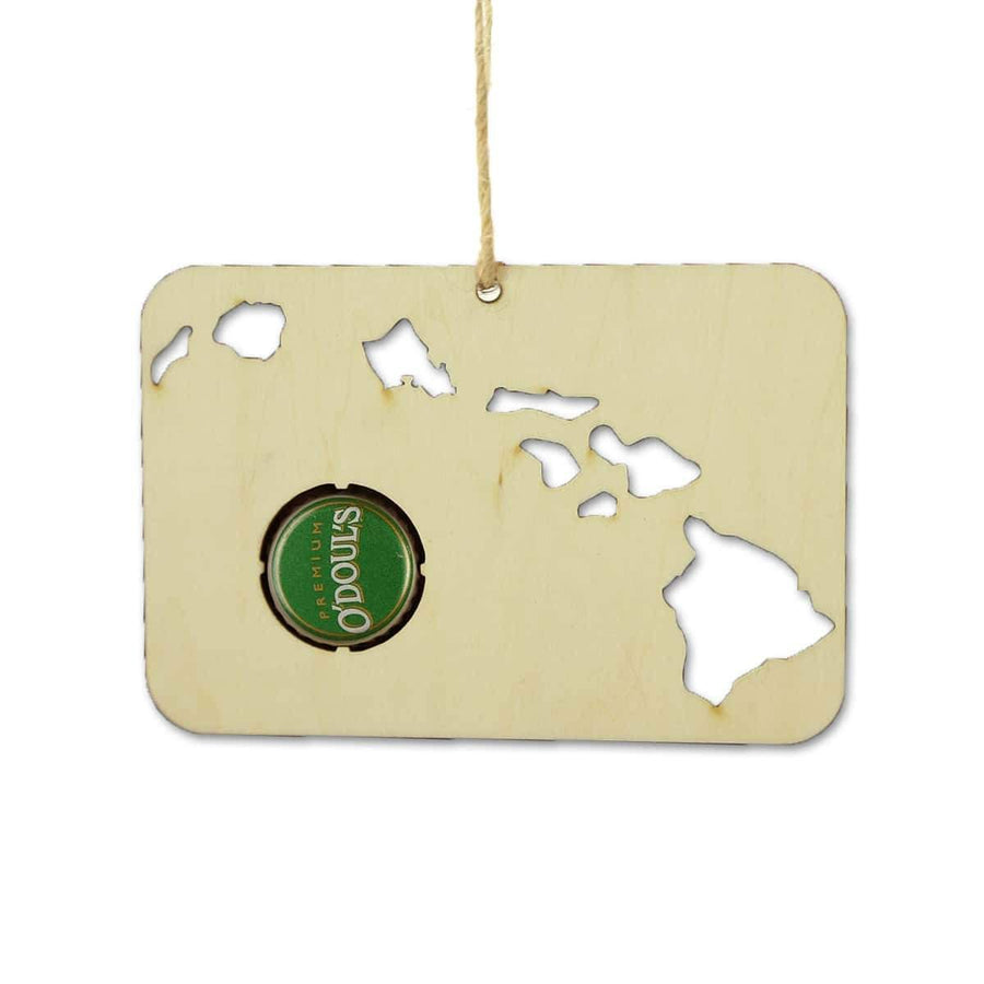 Torched Products Beer Cap Maps Hawaii Beer Cap Map Ornaments
