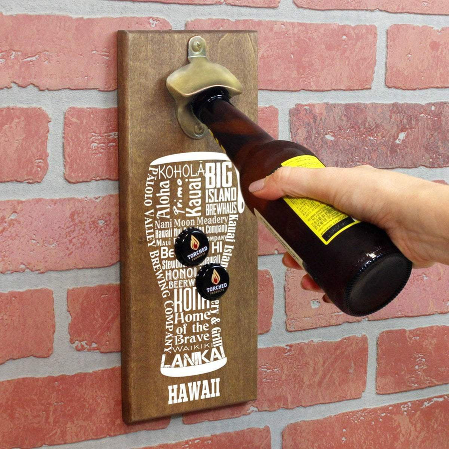 Torched Products Bottle Opener Default Title Hawaii Craft Beer Typography Cap Catching Magnetic Bottle Opener (789174354037)