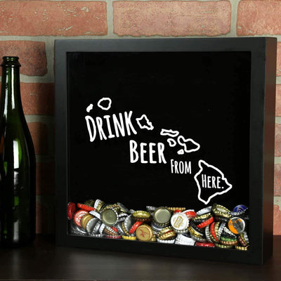 Torched Products Shadow Box Hawaii Drink Beer From Here Beer Cap Shadow Box