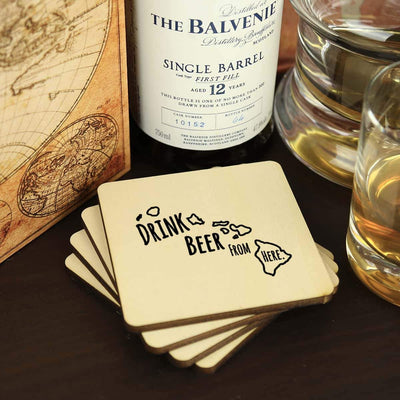 Torched Products Coasters Hawaii Drink Beer From Here Coasters (781445169269)