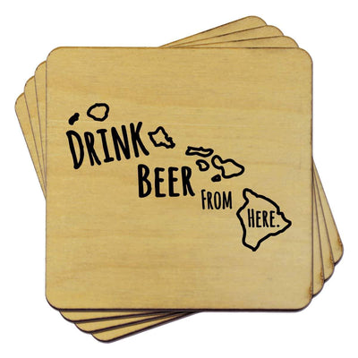 Torched Products Coasters Hawaii Drink Beer From Here Coasters
