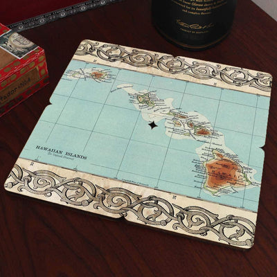 Torched Products Coasters Hawaii Old World Map Coaster (790591406197)