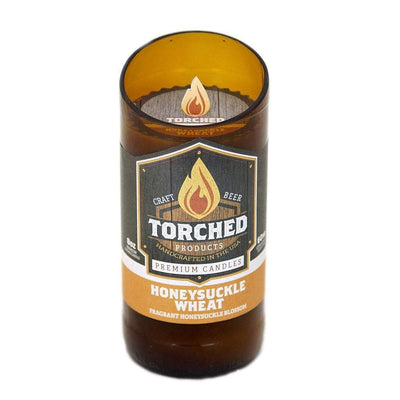 Torched Products Beer Candles Beer Bottle 8 oz Honeysuckle Wheat Beer Candle