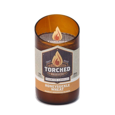 Torched Products Beer Candles Bomber 11 oz Honeysuckle Wheat Beer Candle