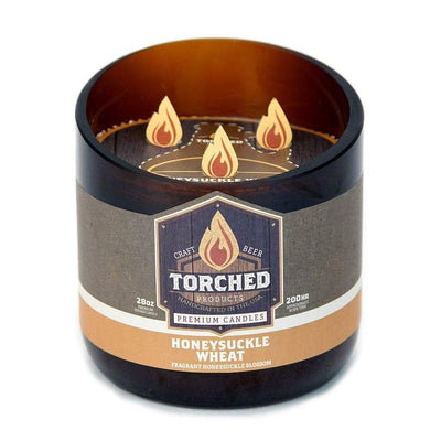 Torched Products Beer Candles Growler 28 oz Honeysuckle Wheat Beer Candle