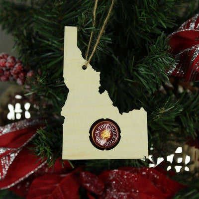 Torched Products Beer Cap Maps Idaho Beer Cap Map Ornaments (781546094709)