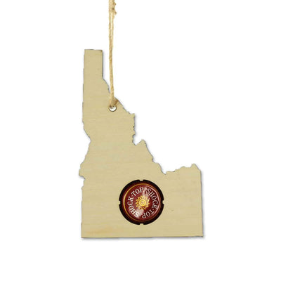 Torched Products Ornaments Idaho Beer Cap Map Ornaments (781546094709)