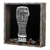 Torched Products Shadow Box Idaho Beer Typography Shadow Box (779423940725)