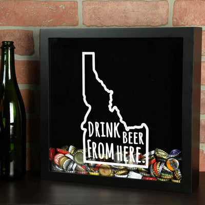 Torched Products Shadow Box Idaho Drink Beer From Here Beer Cap Shadow Box